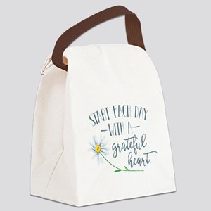 Start Each Day With a Grateful He Canvas Lunch Bag