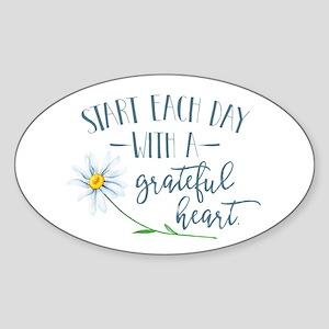 Start Each Day With a Grateful Heart Sticker