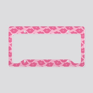 Girly Pink Lips License Plate Holder
