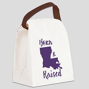 Louisiana - Born & Raised Canvas Lunch Bag