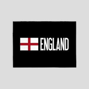 England: English Flag & England 5'x7'Area Rug