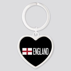 England: English Flag & England Heart Keychain