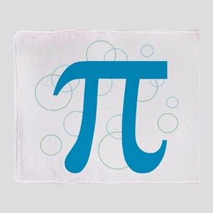 Pi Circles Throw Blanket