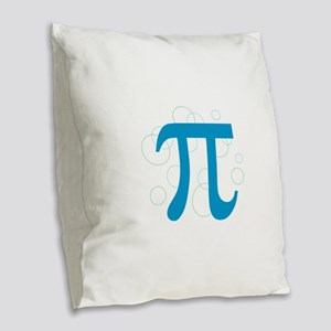 Pi Circles Burlap Throw Pillow
