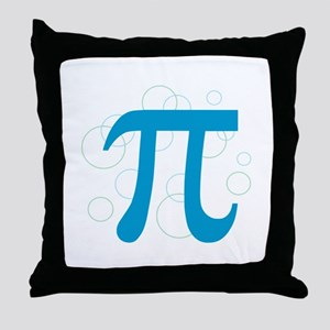Pi Circles Throw Pillow
