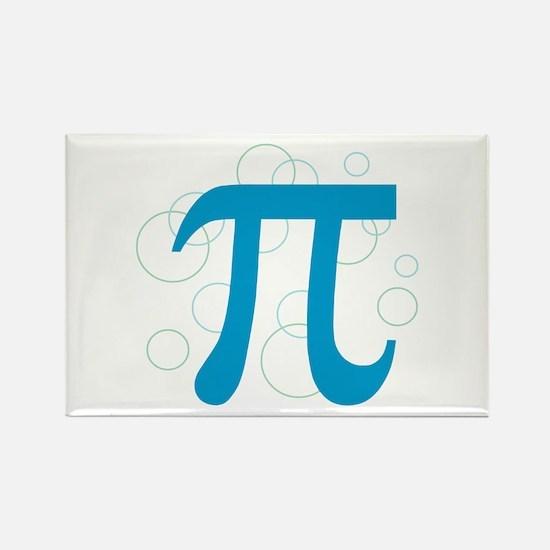 Pi Circles Rectangle Magnet (10 pack)
