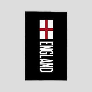 England: English Flag & England Area Rug