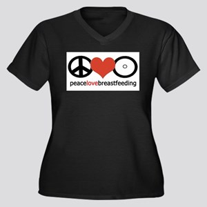 Peace, Love & Breastfeeding Plus Size T-Shirt