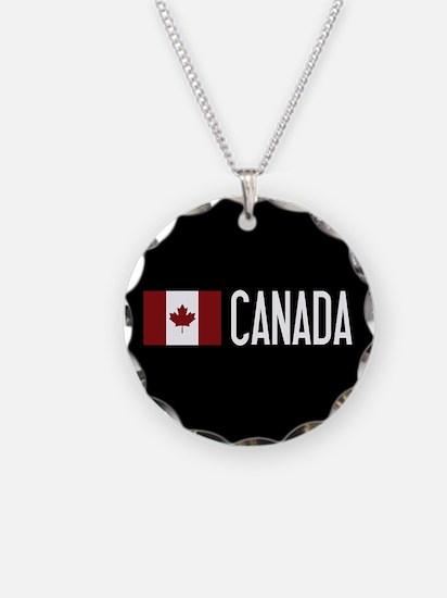 Canada: Canadian Flag & Cana Necklace