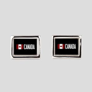 Canada: Canadian Flag & Cana Rectangular Cufflinks