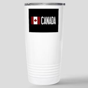 Canada: Canadian Flag & Stainless Steel Travel Mug