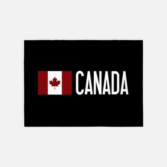 Canada: Canadian Flag & Canada 5'x7'Area Rug