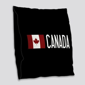 Canada: Canadian Flag & Canada Burlap Throw Pillow