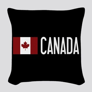 Canada: Canadian Flag & Canada Woven Throw Pillow