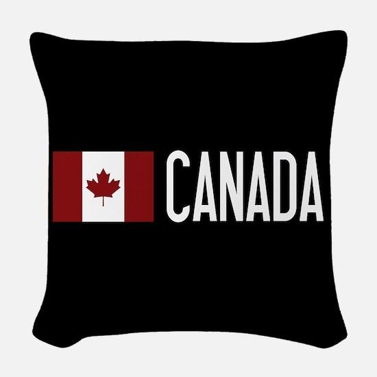 Canada: Canadian Flag & Canada Woven Throw Pillow