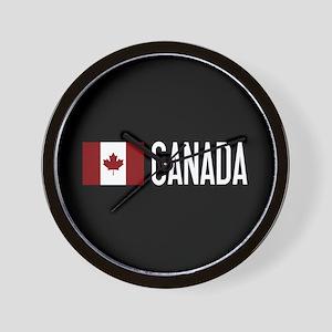 Canada: Canadian Flag & Canada Wall Clock
