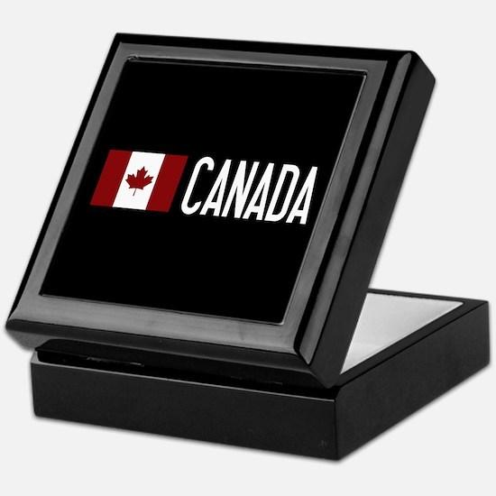 Canada: Canadian Flag & Canada Keepsake Box