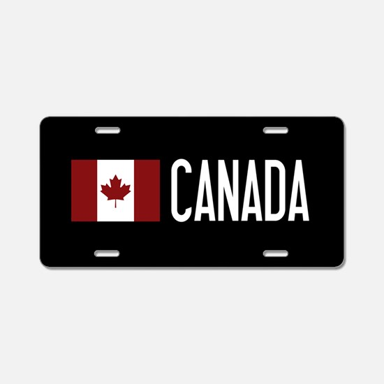 Canada: Canadian Flag & Can Aluminum License Plate