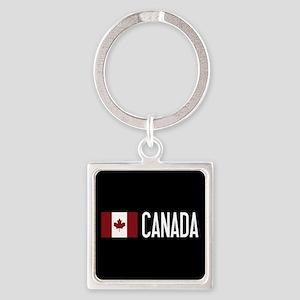 Canada: Canadian Flag & Canada Square Keychain