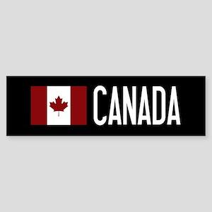 Canada: Canadian Flag & Canada Sticker (Bumper)