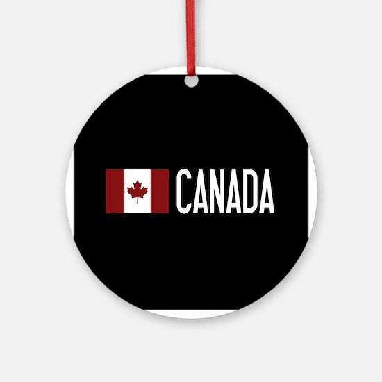 Canada: Canadian Flag & Canada Round Ornament
