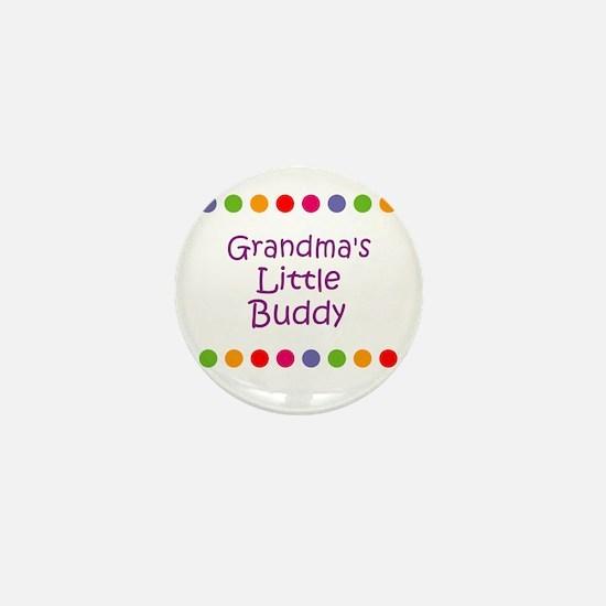 Grandma's Little Buddy Mini Button