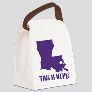 Louisiana - This Is Home Canvas Lunch Bag