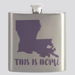 Louisiana - This Is Home Flask