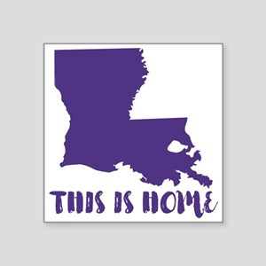 "Louisiana - This Is Home Square Sticker 3"" x 3"""