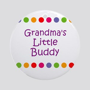 Grandma's Little Buddy Ornament (Round)