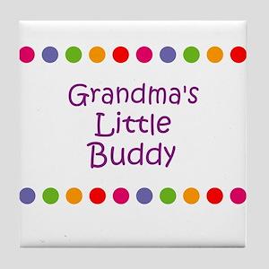 Grandma's Little Buddy Tile Coaster