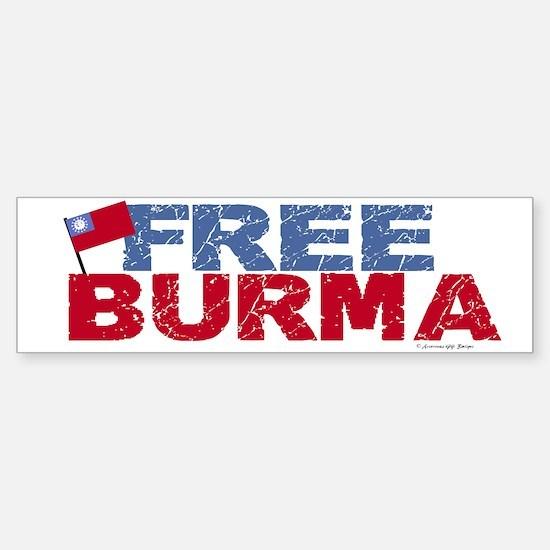 Free Burma 1.1 Bumper Bumper Bumper Sticker