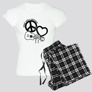 P, L, UKULELES Women's Light Pajamas
