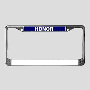 HONOR BLUE License Plate Frame