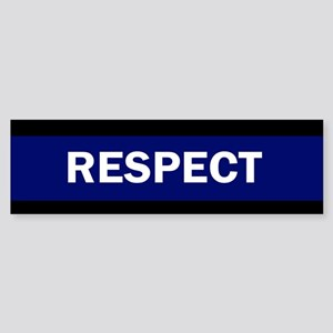 RESPECT BLUE Bumper Sticker