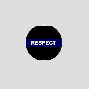 RESPECT BLUE Mini Button