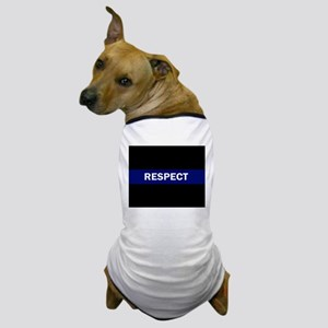 RESPECT BLUE Dog T-Shirt