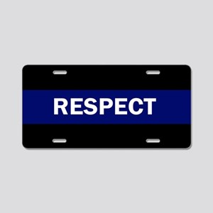 RESPECT BLUE Aluminum License Plate