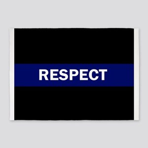 RESPECT BLUE 5'x7'Area Rug