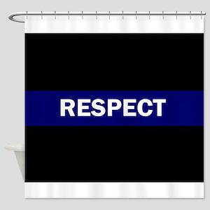 RESPECT BLUE Shower Curtain