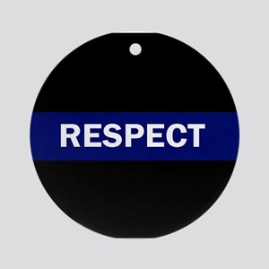 RESPECT BLUE Round Ornament