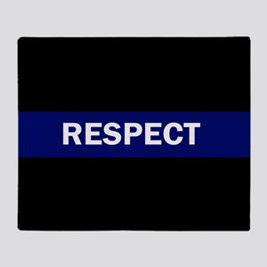 RESPECT BLUE Throw Blanket