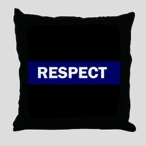 RESPECT BLUE Throw Pillow