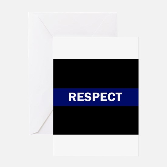RESPECT BLUE Greeting Cards