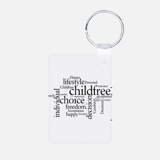 The Childfree Choice Logo Keychains