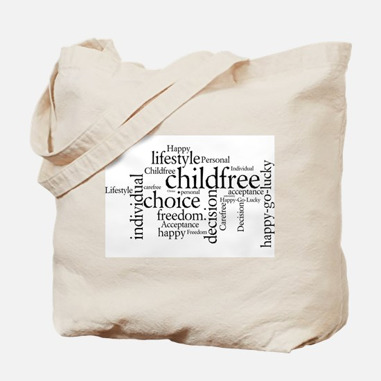 The Childfree Choice Logo Tote Bag
