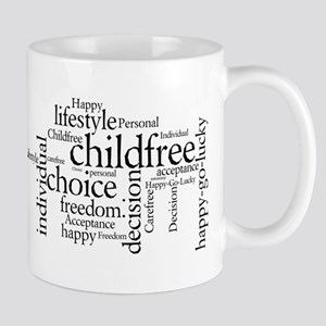 The Childfree Choice Logo Mugs