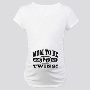 Mom To Be Twins 2017 Maternity T-Shirt