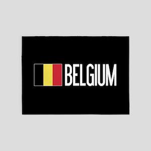 Belgium: Belgian Flag & Belgium 5'x7'Area Rug