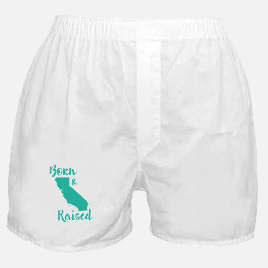 California - Born & Raised Boxer Shorts
